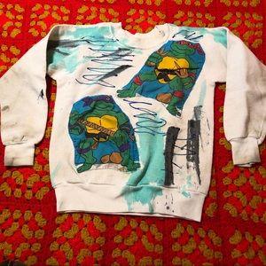 Vintage homemade Ninja Turtles sweatshirt